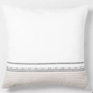 Hearth & Hand Accents - Engineered Ombre Border Throw Pillow Hearth Hand